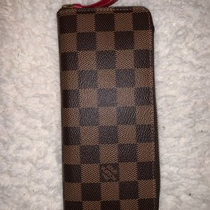 Louis Vuitton Authentic Clèmence Wallet (Cherry)
